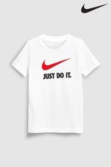 Teenager – Jungen Jüngere Jungen, Oberteile, Nike, Weiß