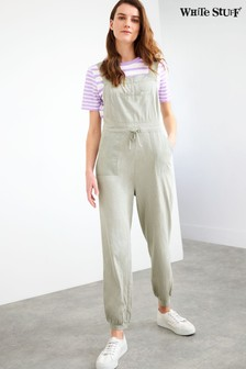 White Stuff Grey Daphne Jersey Dungarees