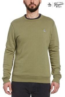 Original Penguin® Green Sticker Pete Fleece Crew Sweatshirt