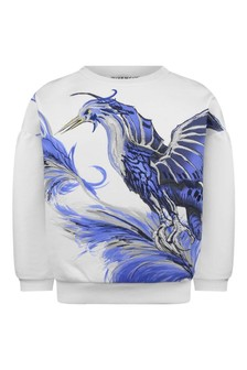 Girls White Mythical Creature Sweater