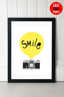 Smile Framed Print by East End Prints