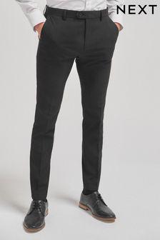 Black Super Skinny Fit Stretch Formal Joggers