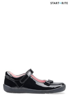 Start-Rite Giggle Black Patent Leather Shoes