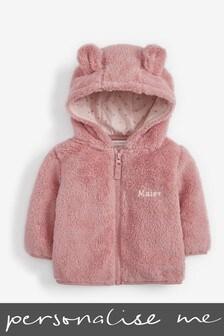 Personalised Pink Fleece Jacket