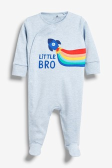 Blue Little Bro Rocket Sleepsuit (0-18mths)