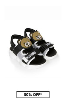 Boys White Leather Sandals