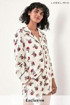 Mix/Holly Fulton Zebra Print Pyjama Shorts