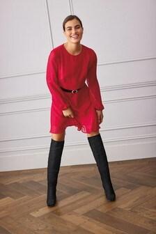 Red Flippy Dress