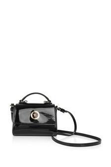 Girls Black Patent Leather Bag