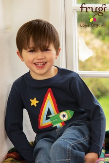 Frugi Blue GOTS Organic 4th Birthday T-Shirt