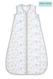 aden + anais Essentials Natural History 6 months Cotton Muslin 1.0 TOG Light Sleeping Bag