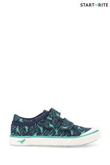 Start-Rite Jurassic Navy Dino Canvas Shoes