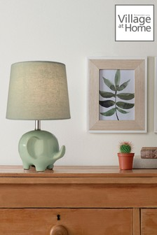 Village At Home Green Ellie Table Lamp
