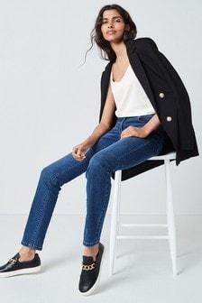 Dark Blue Enhancer Slim Jeans