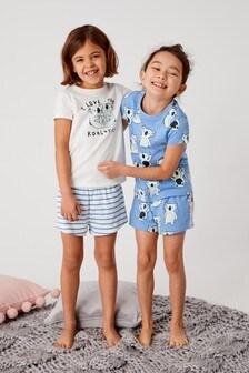 Синий Два пижамных комплекта с шортами и принтом коал (3-16 лет) e5af0285c49e9