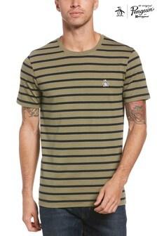 Original Penguin® Green Breton Stripe T-Shirt
