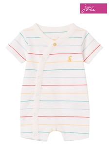 Joules White The Romper Organic Shortie