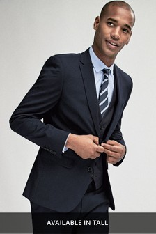 Navy Slim Fit Stretch Tonic Suit: Jacket