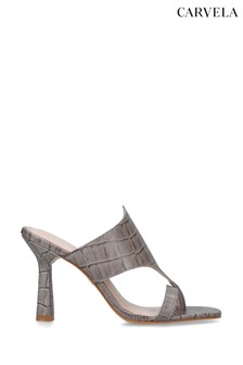 Carvela Grey Gazette Heeled Sandals