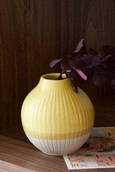 Small Ochre Ceramic Vase