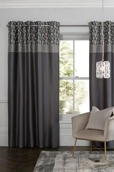 Geo Panel Eyelet Curtains