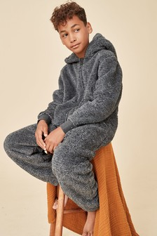 Grey Fleece All-In-One (3-16yrs)