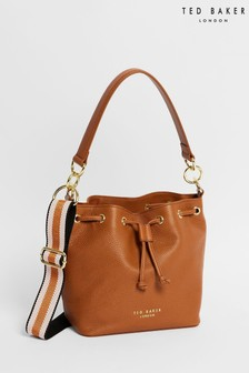 Ted Baker Brown Aminah Branded Webbing Strap Bucket Bag