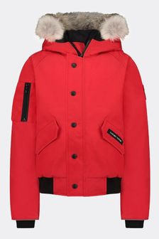 Boys Red Down Padded Rundle Bomber Jacket