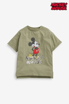 Khaki License Mickey Mouse™ Sequin Oversize T-Shirt (3-16yrs)