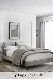 Contemporary Blend Light Grey Kendric Pillow Bed