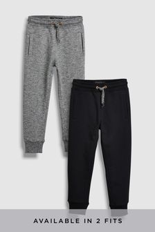 Black/Grey Slim Fit 2 Pack Joggers (3-16yrs)