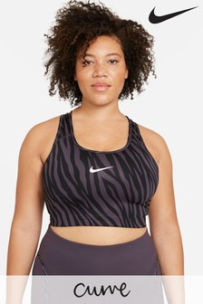 Nike Curve Swoosh Medium Support Icon Clash Sports Bra