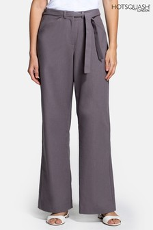 HotSquash Grey Linen Trousers
