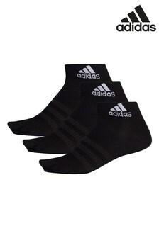 adidas Kids Black Mid Cut Socks Three Pack