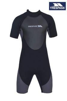Trespass Black Scuba Male 3mm Short Wetsuit