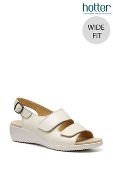 Hotter Easy II Wide Fit Touch Fastening/Buckle Open Sandals