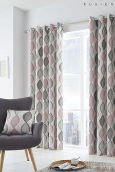 Fusion Lennox Cotton Eyelet Curtains