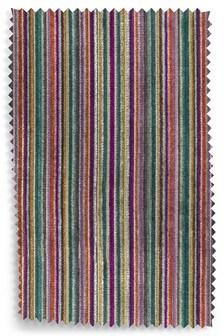 Velvet Stripe Multi Fabric by the Roll