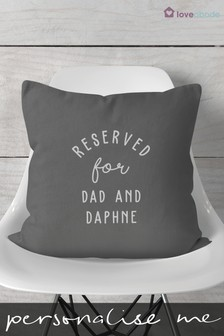 Personalised Reserved For Cushion by Loveabode