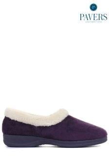 Pavers Purple Ladies Full Slippers