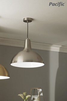 Pacific Brushed Chrome Metal Pendant Shade