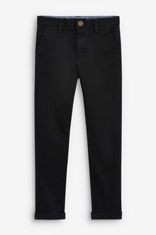 Black Skinny Fit Stretch Chino Trousers (3-16yrs)