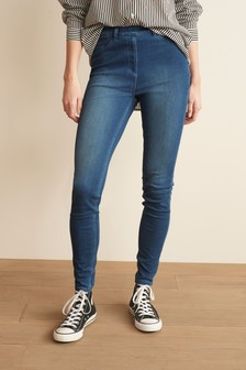 Dark Blue Jersey Denim Leggings