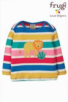 Frugi Yellow Lion GOTS Organic Easy On T-Shirt