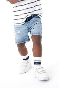 Light Blue Distressed Denim Shorts (3mths-7yrs)