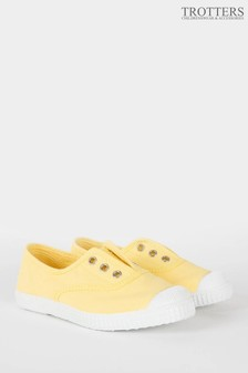 Trotters London Lemon Plum Canvas Shoes