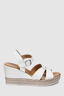 White Forever Comfort Two Part Wedges