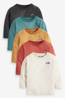 Mineral 5 Pack Long Sleeve T-Shirts (3mths-7yrs)