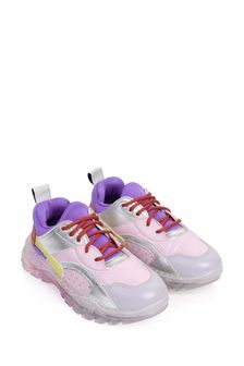 Girls Pink Colourblock Trainers
