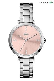 Lacoste Silver Tone Stainless Steel Geneva Watch